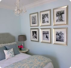 Bedroom Design, Fabulous Traditional Blue Bedroom Decorating Ideas With Light Blue Wall Color Also Single Bed With Gray Headboard Color Also. House Of Turquoise, Bedroom Turquoise, Bedroom Wall, Bedroom Decor, Bedroom Frames, Bedroom Ideas, Dream Bedroom, Wall Decor, Bedroom Designs