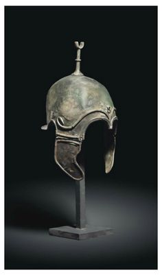 A Celtiberian helmet of chalcidian type, found in the province of Zaragoza…