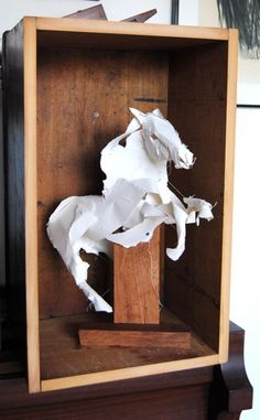 Sydney-based Anna-Wili Highfield makes paper sculptures of birds, horses