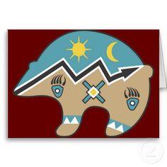 Shop Tribal Indian Bear Print created by ArtisticFootprints. Native American Patterns, Native American Symbols, Native American Design, American Indian Art, Tribal Bear, Spirit Bear, Spirit Animal, Navajo Art, Garden Art