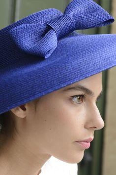 Chapeau Miss Audrey - Paille fine bleu