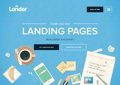 LanderApp #webdesign #inspiration #UI