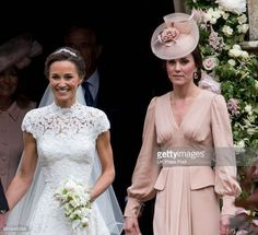Pippa Middleton and Catherine Duchess of Cambridge attend the wedding of Pippa Middleton and James Matthews at St Mark's Church on May 20 2017 in...