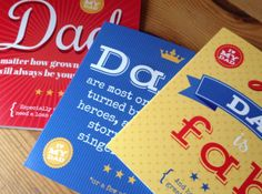 Applemint design have produced these lovely Fathers Day cards with us recently. http://www.printed.com/products/2/greeting-cards