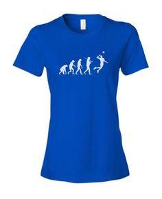 Evolution-Volleyball-Womens-Ladies-Fashion-Fit-T-Shirt-Shirt-Top