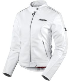 Hella Leather Jacket - White | Products | Ride Icon  Sleek, sexy, simplistic chic style.   Love it