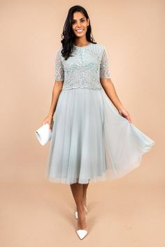 Dresses To Wear To A Wedding Take a look at Prudence Vintage Lily Embellished Dress on Virgo Boutiqu Dresses To Wear To A Wedding, Formal Dresses, Wedding Venue Inspiration, Wedding Ideas, Gatsby Style, Embellished Dress, Knee Length Dresses, Chic Outfits, Luxury Fashion