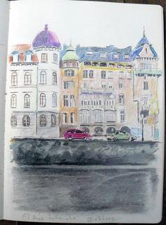Suecia, Göteborg, el río helado