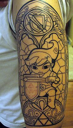 link.  love the stained glass idea, though I think it's too much for a sleeve.