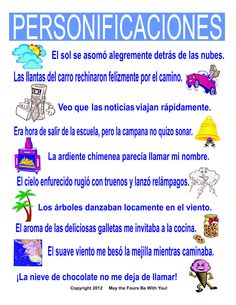 https://flic.kr/p/dHGq63 | Personificaciones Spanish Classroom Poster | Spanish version of our Personification Classroom Poster