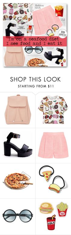 """""""International Junkfood Day - 21st July"""" by fashionablemy ❤ liked on Polyvore featuring Rika, H&M, New Look, STELLA McCARTNEY, Topshop, Tom Ford, junkfood, food, pizza and seafood"""