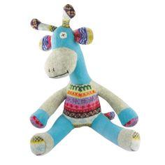 Timeless Reclaimed Wool Stuffed Animals - Giraffe