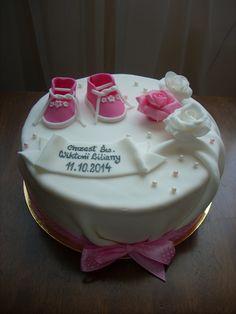 Christening cake for a little girl