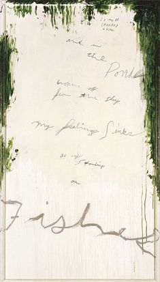 Cy Twombly - Untitled part I (a painting in 9 parts), 1988