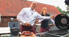 50 geniale Grillrezepte für Ihr BBQ - MEN'S HEALTH Bbq, Chef Jackets, Marinated Mushrooms, Healthy Food, Meat, Chef Recipes, Cooking, Barbecue, Barbacoa