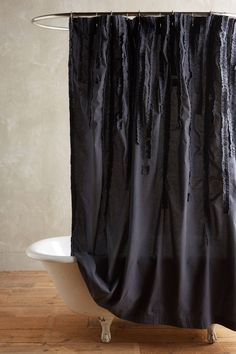 Draped Wisteria Shower Curtain - anthropologie.com