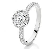 This white gold Canadian Fire diamond engagement ring features a centre diamond and has a perfectly set halo of diamonds to create even more fire and scintillation. The rare white diamonds are also set down the shoulders of the ring giving it a TDW of Thing 1, Diamond Jewellery, White Diamonds, Diamond Engagement Rings, Halo, Centre, White Gold, Fire, Jewelry