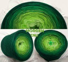 Morgentau: Hochbauschacryl 3 fädig 6 Farben: lindgrün apfelgrün froschgrün grün grasgrün dunkelgrün