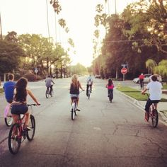 Bike rides with friends & family