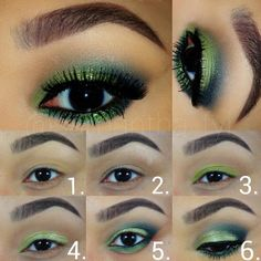 Green Smokes Eye Shadow Set by by MadisonStreetBeauty on Etsy, $48.99