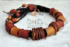 polymer clay necklace by Anna Krichevskaya