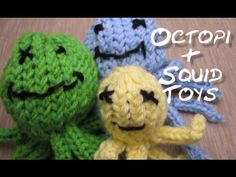 Baby Knitting Patterns Sack Loom Knit – Video on How to Knit Octopi and Squid Toys. From Caring Caps on ▶ … Loom Knitting Projects, Loom Knitting Patterns, Knitting Videos, Knitting Toys, Loom Animals, Knitted Stuffed Animals, Loom Craft, Knifty Knitter, Finger Knitting