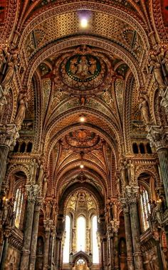 France Travel Inspiration - NOTRE DAME DE FOURVIEVRE CATHEDRAL (Our Lady of Fourvievre) in Lyon, France