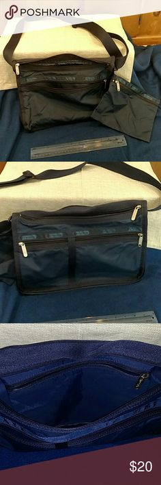 LeSportsac Blue Shoulder Bag/Tote Unused Blue 7 pocket Shoulder bag/Tote good for traveling/outdoors sorting/storing essentials. Adjustable strap. LeSportsac Bags Totes