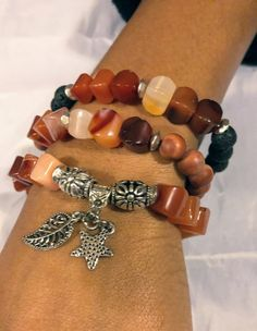 Women Carnelian bracelets with charms Womens charm Beaded Braclets, Beaded Jewelry, Handmade Jewelry, Bracelet Display, Jewelry Crafts, Jewelry Ideas, Accesorios Casual, Imitation Jewelry, Bracelet Designs