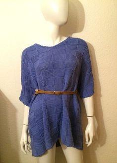 Kaufe meinen Artikel bei #Kleiderkreisel http://www.kleiderkreisel.de/damenmode/kurze-kleider/114432640-oversized-strickkleid-wollkleid-blau-hipster-boho-blogger-vintage-wolle-strick-blogger