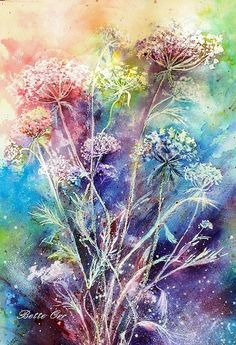 """Dance Of The Queens"".. Print By Bette Orr...Queen Anne's Lace"