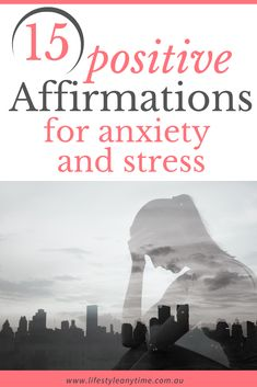 Research shows 1 in 4 people will at sometime in their life experience anxiety. It is because I let my stress build up so much that it caused anxiety that I learnt different mindful methods to help me through tough times. One of the ways is through positive affirmations. Saying daily affirmations may help you too with stress relief. Enjoy these stress relief affirmations.  #affirmations #positveaffirmations #stressaffirmations #stressrelief Positive Affirmations For Anxiety, Daily Affirmations, Positive Thoughts, Stress Management Activities, Life Gets Better, Dealing With Stress, Positive Psychology, Feeling Stressed, Future Goals