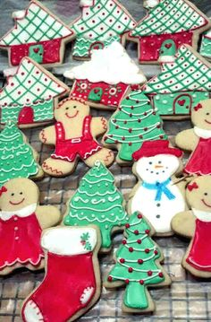 Decorating cookies is incredibly therapeutic . . . until you start eating all the cookies you've decorated.  Then it's just plain yummy!
