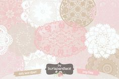 Check out Clipart Doily Clip art by burlapandlace on Creative Market