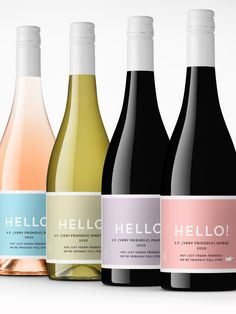Simple color pallete across a variety of wines.