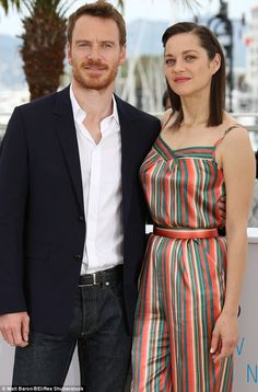 Stars: The actress posed with her onscreen husband Michael Fassbender who plays Macbeth in the adaptation