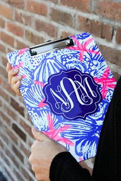 Monogrammed Clipboards that are double sided & Lily Pulitzer Inspired! Great Teacher gift, Office GIFT, THANK YOU GIFT, JUST BECAUSE GIFT!