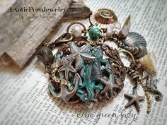 The green Lady by Cynthia Wainscott exoticperujewelry