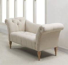 Tov Furniture Shev Beige Linen Settee