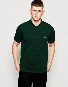 Fred+Perry+Polo+Shirt+in+Slim+Fit+Ivy+Green