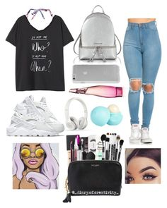 """""""Classy but comfy~"""" by kinakream ❤ liked on Polyvore featuring Dorothy Perkins, Violeta by Mango, NIKE, Michael Kors, Case-Mate, Beats by Dr. Dre, River Island and Donna Karan"""