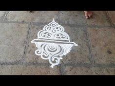 How to make free hand design Rangoli Borders, Rangoli Border Designs, Rangoli Designs With Dots, Kolam Designs, Rangoli Designs Peacock, Simple Rangoli Designs Images, Free Hand Designs, Deco, Creative