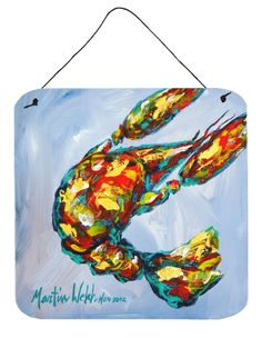 Crawfish Iced Crawfish Aluminium Metal Wall or Door Hanging Prints