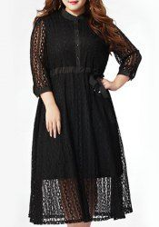 SHARE & Get it FREE   Chic Plus Size Button Design Solid Color Hollow Out Dress For WomenFor Fashion Lovers only:80,000+ Items • New Arrivals Daily • Affordable Casual to Chic for Every Occasion Join Sammydress: Get YOUR $50 NOW!