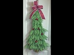 How to make a deco mesh Christmas Angel fun and quick project - YouTube