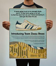 Adidas Team Zissou Shoes - Life Aquatic on Behance