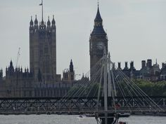 Houses of Parliament with Hungerford Bridge