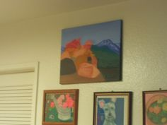 My painting of the view from the Rim of the World Highway hanging on the Wall.
