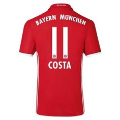 16-17 FC Bayern Munichen Cheap Home Replica Shirt #11 COSTA [E627]