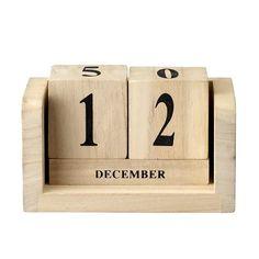 Bloomingville Calender dices, wood. 14×6,5xh10cm
